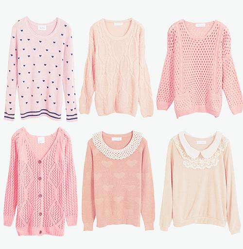 "gasaii: Shop @ Yumart ♥ Pink sweaters | Enter ""gasaii"