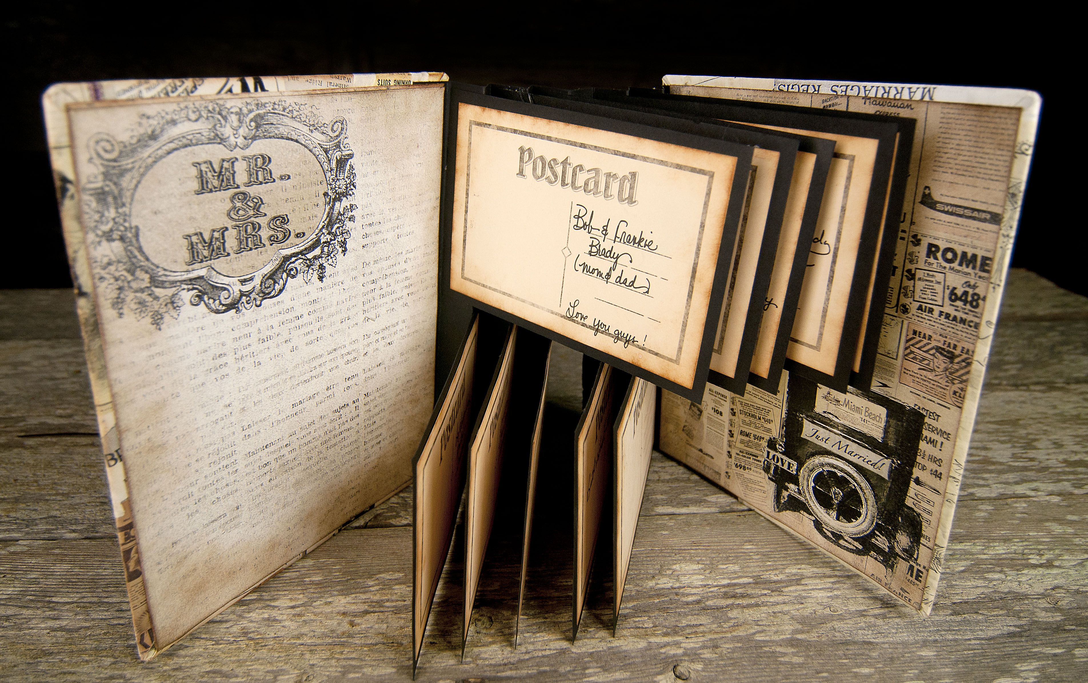 DIY Wedding Guest Book with 7gypsies Harmony papers- Add the perfect ...
