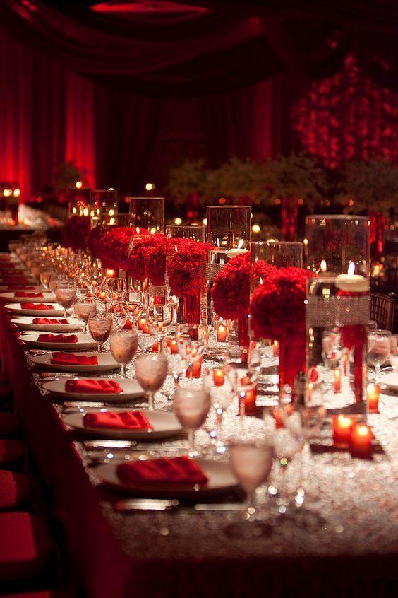 Red Wedding Reception Decorations