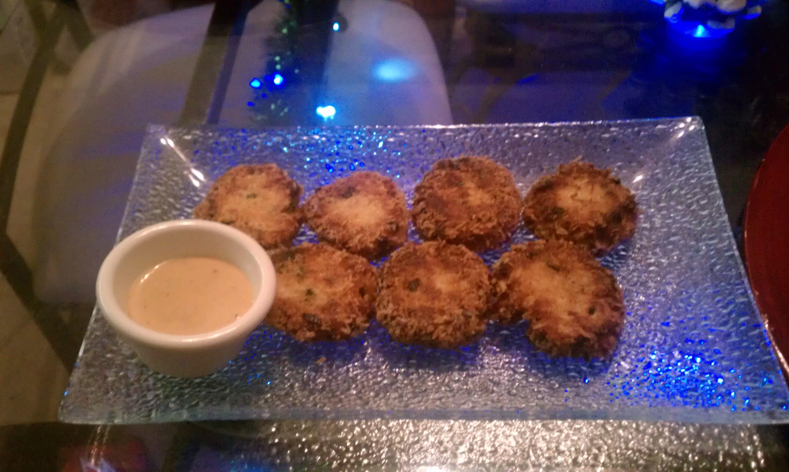 crab cakes.