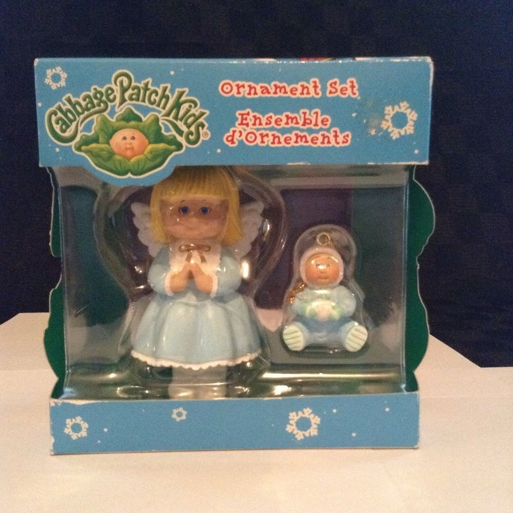 New 2005 Cabbage Patch Kids Tree Ornament Set Decorate Hang Christmas