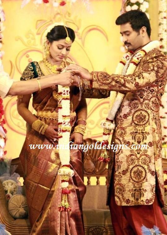 Latest Saree Designs Sneha In Her Wedding Reception Saree Sarees