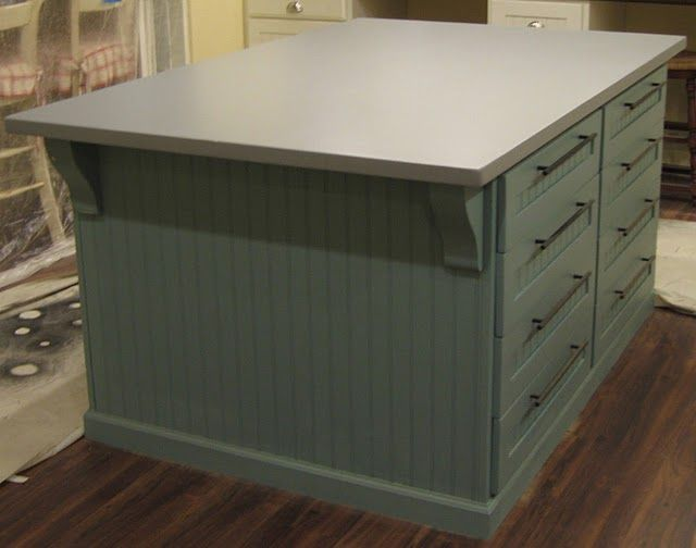 How To Build A Painted MDF Countertop Great For A Craft Room Island/work  Table