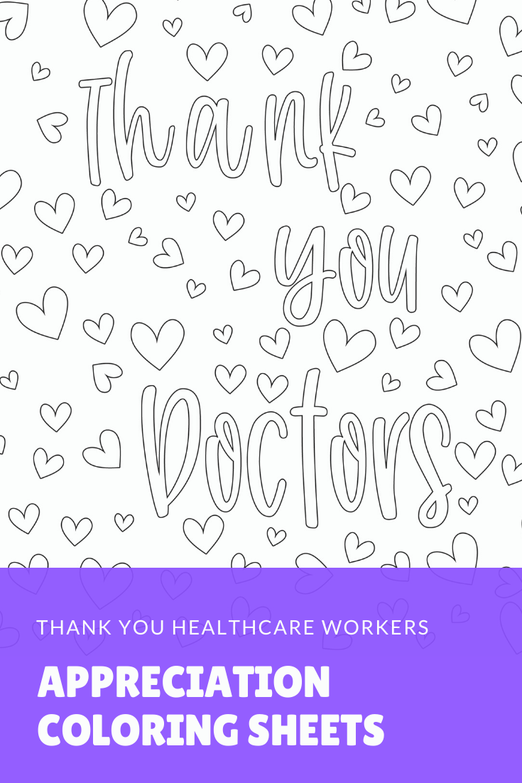 Doctors Appreciation Coloring Page Thank You Doctor Nhs Etsy Coloring Pages Happy Planner Coloring Sheets