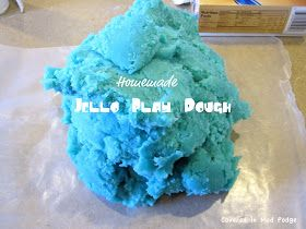 Covered in Mod Podge: Jello Play Dough {how to get buff arms}