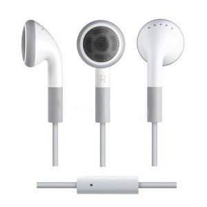 1 78 Stereo Headset With Microphone For Apple Iphone 3 3g 3gs 4 4s 4g White No Volume Remote 3 5mm Apple Headphone Headphones Headset
