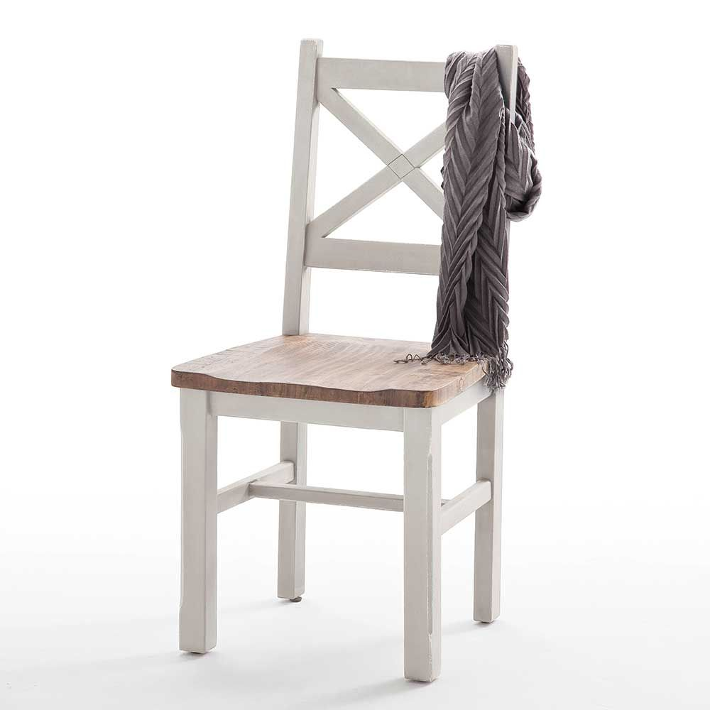 Bezaubernd Esstischstuhl Weiß Beste Wahl Skandinavischer Stuhl In Weiß Kiefer Massiv (2er