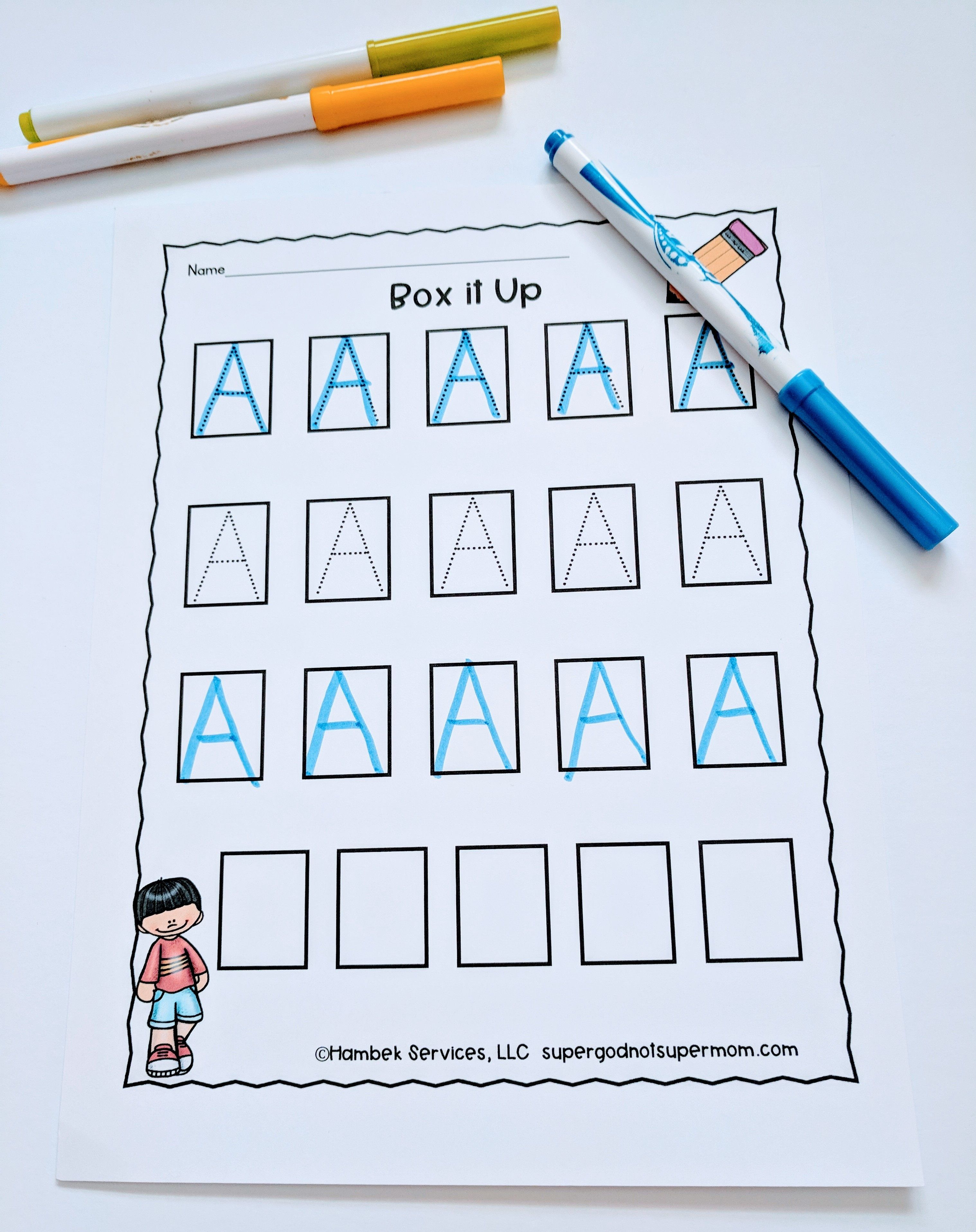 Alphabet Handwriting Worksheets Super God Not Super Mom