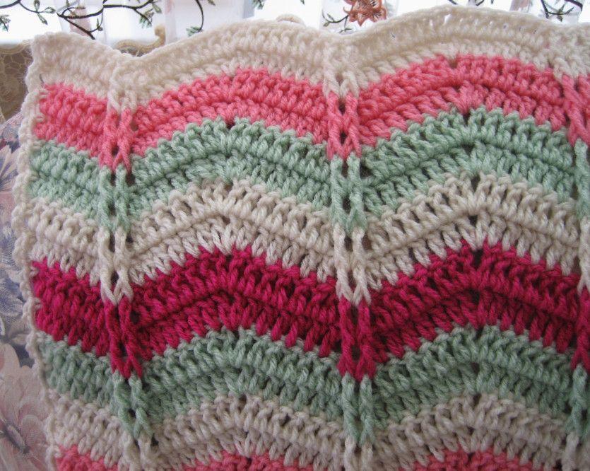 Watermelon Mojito Ripple Throw Watermelon Mojito Free Crochet