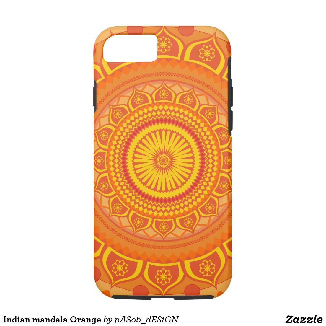 Indian mandala Orange