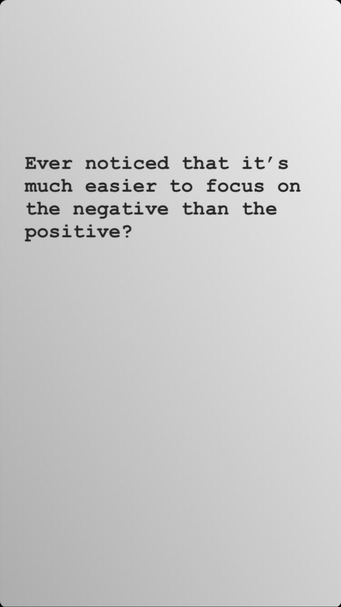 Negativity Bias