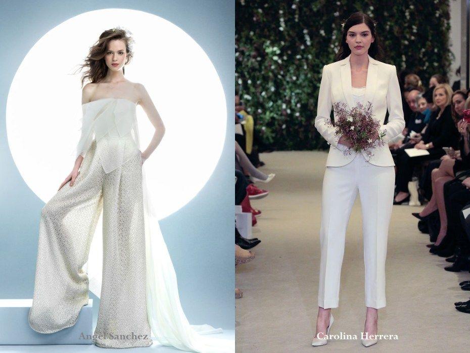 Bridal pant suit 2016 | Ladies wedding trouser suits | Pinterest ...