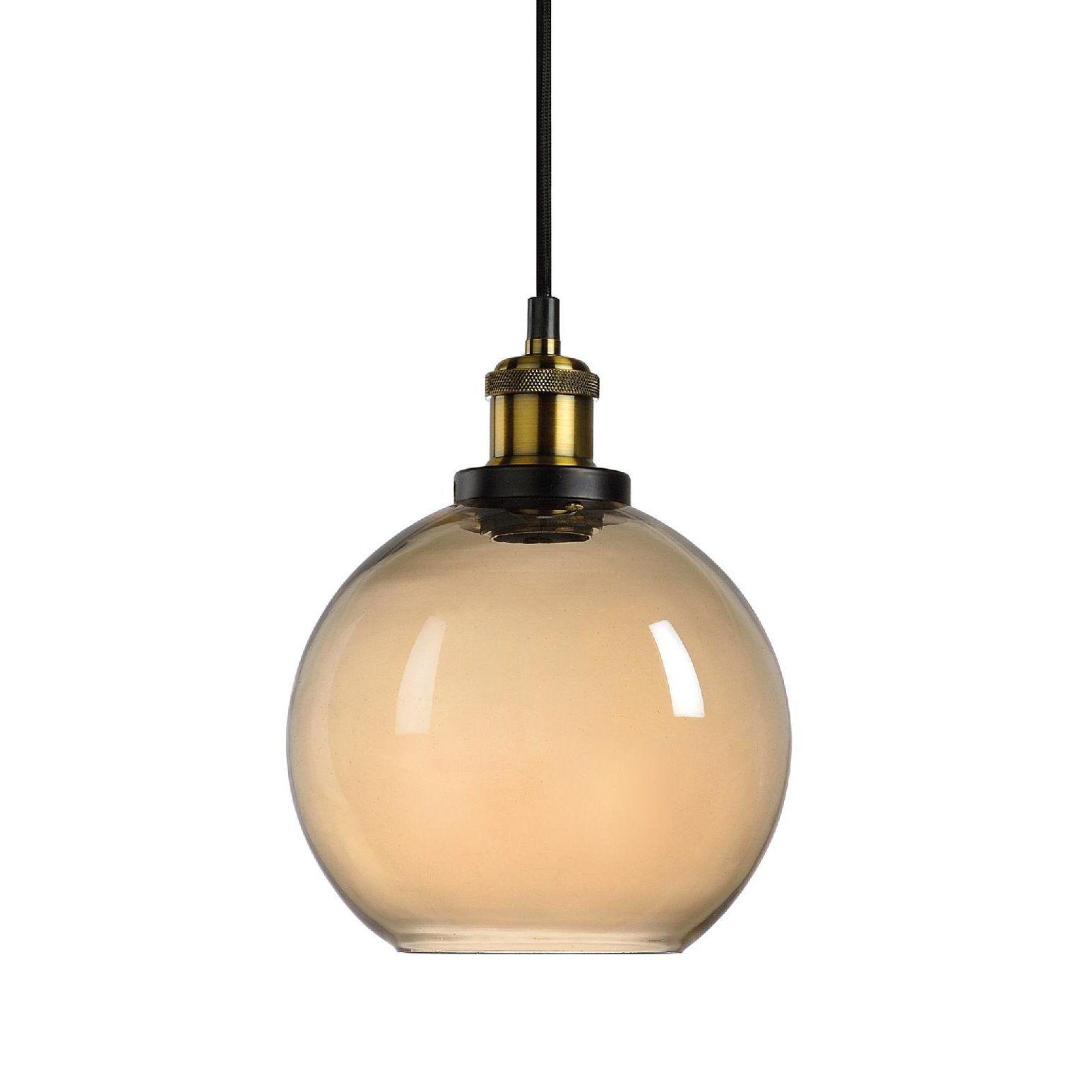 Lámpara colgante de vidrio ámbar (esfera) | Pinterest | Esferas ...