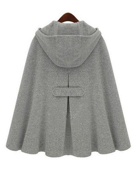 gray cloak coat #banggoodfashion