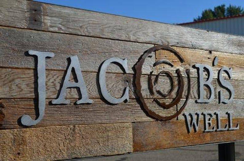 LOGO Brand Corporate Branding Restaurant Sign Steel Wood ...