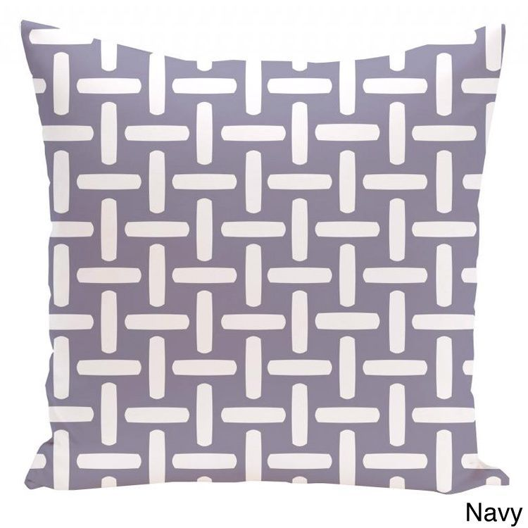E by Design 26 x 26-inch Basket Weave Print Decorative Throw Pillow