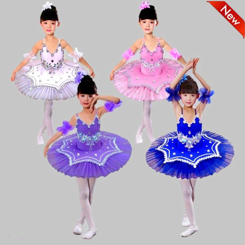 464e722d7888 New Children Ballet Tutu Dress Girls Swan Lake Dance Costume Figure ...
