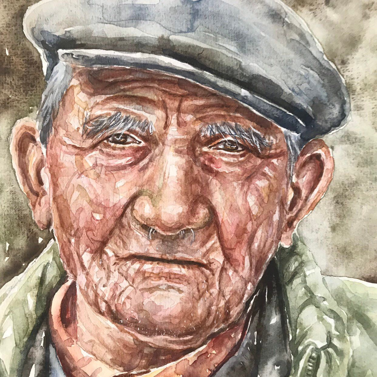 Watercolor Portrait Portrait Art Original Watercolor Portrait Of