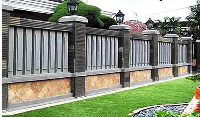 Model Pagar Tembok Rumah Mewah Minimalis Desain Eksterior Rumah Mewah Rumah Minimalis