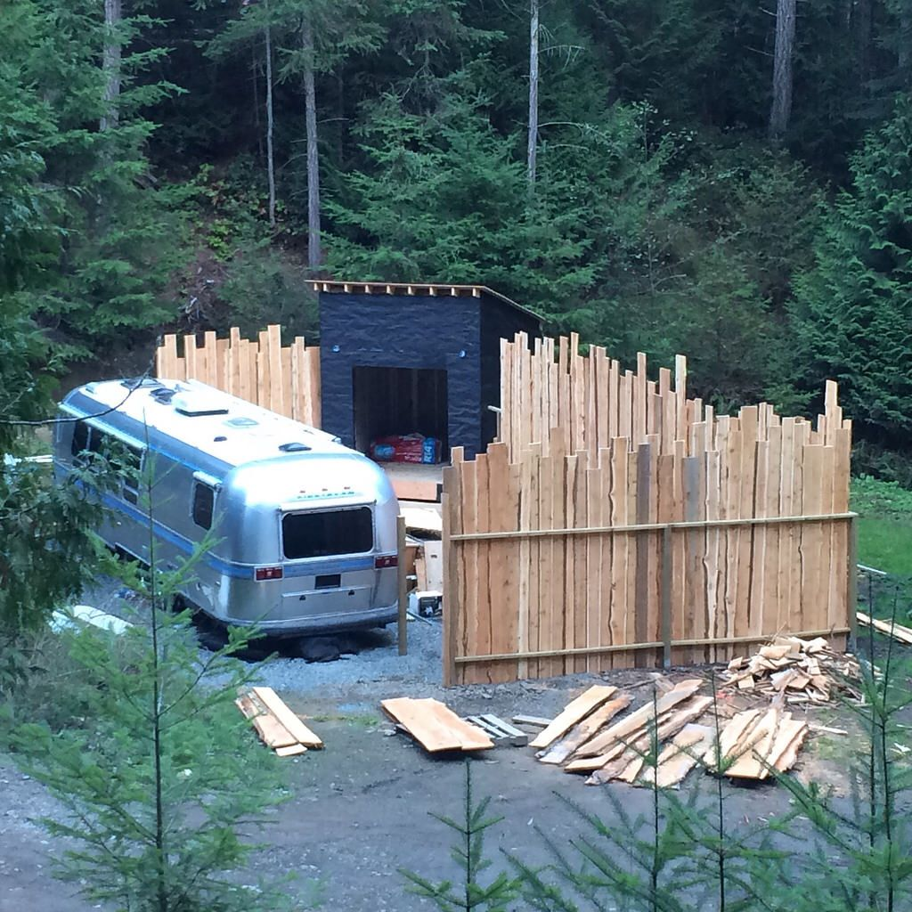 Airstream Excella Renovation WOODS on Pender Wood