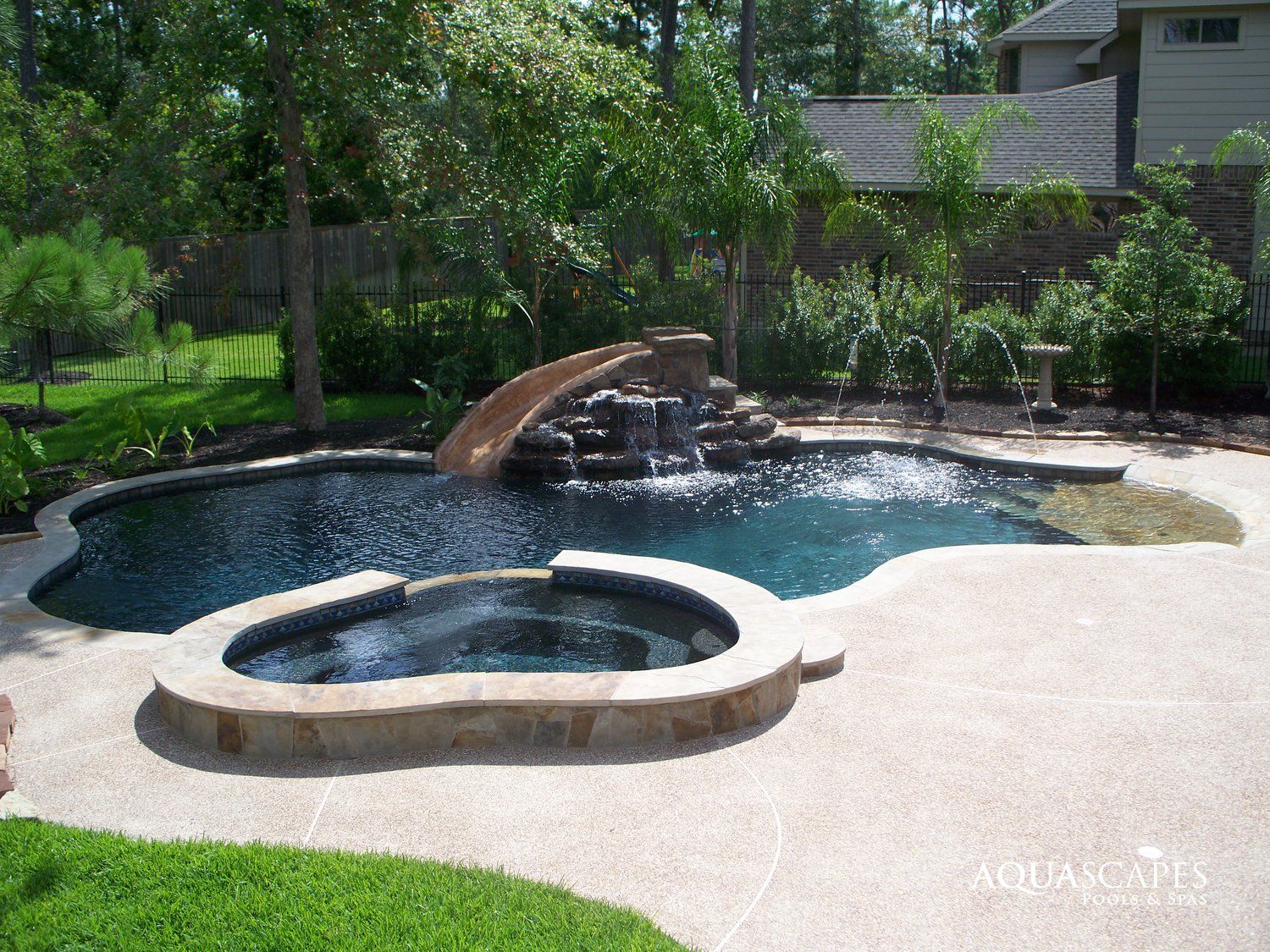 Pool Builders Houston Tx Residential Pools Swimming Aquascapes And Spas