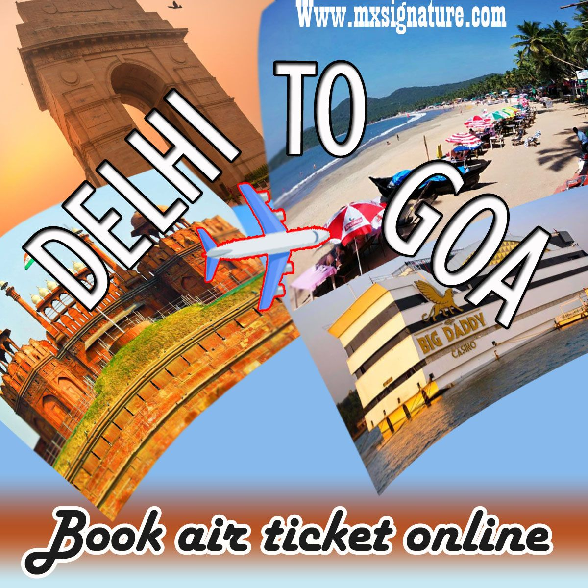 Book Delhi To Goa Flight Online travel agency, Holiday