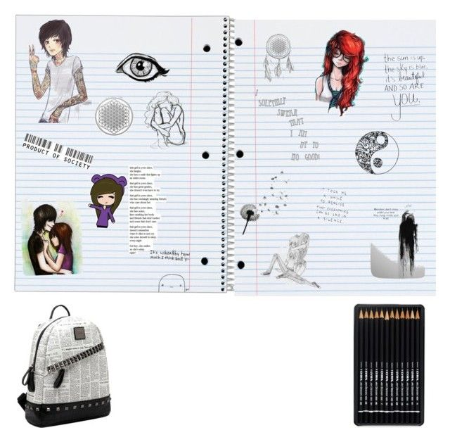 """""""What you could find in my notebook #2"""" by jayden-kurtz on Polyvore featuring art"""