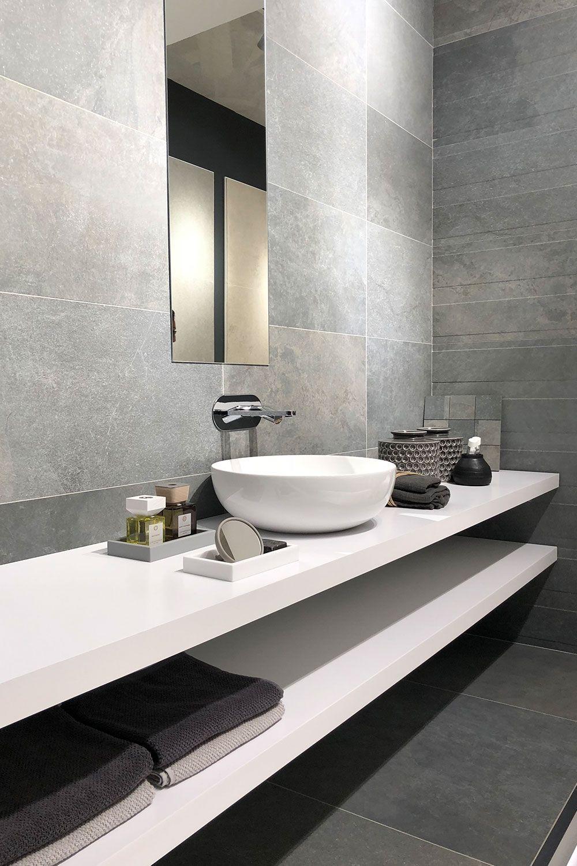 Steinoptik Im Bad Modern Bathroom Design Bathroom Design Modern Bathroom