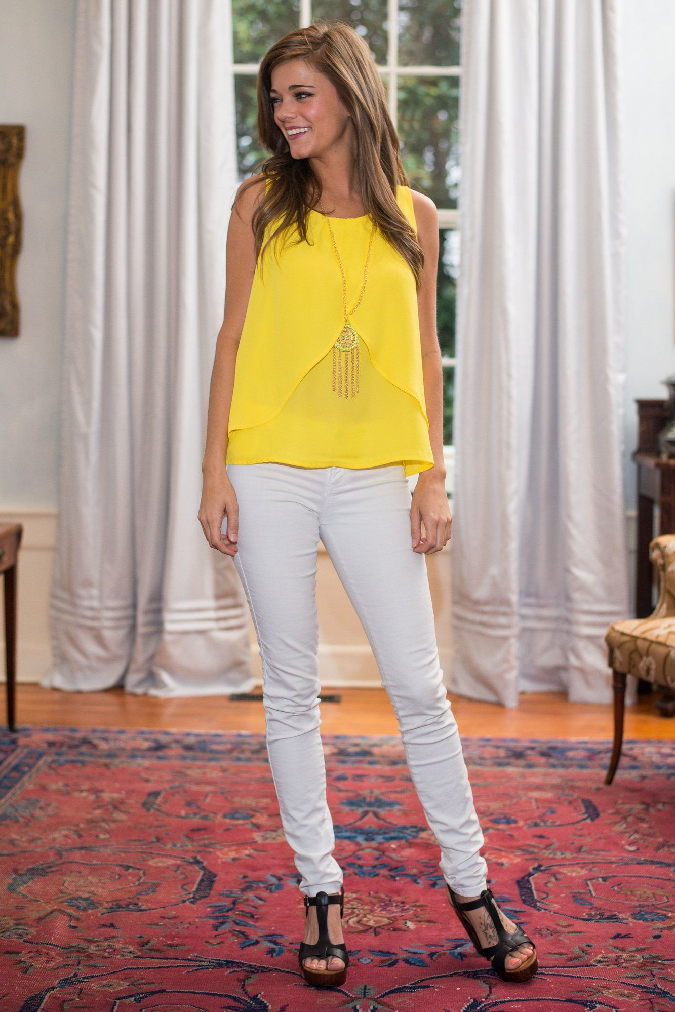 Ray of Light Top, Yellow - The Mint Julep Boutique