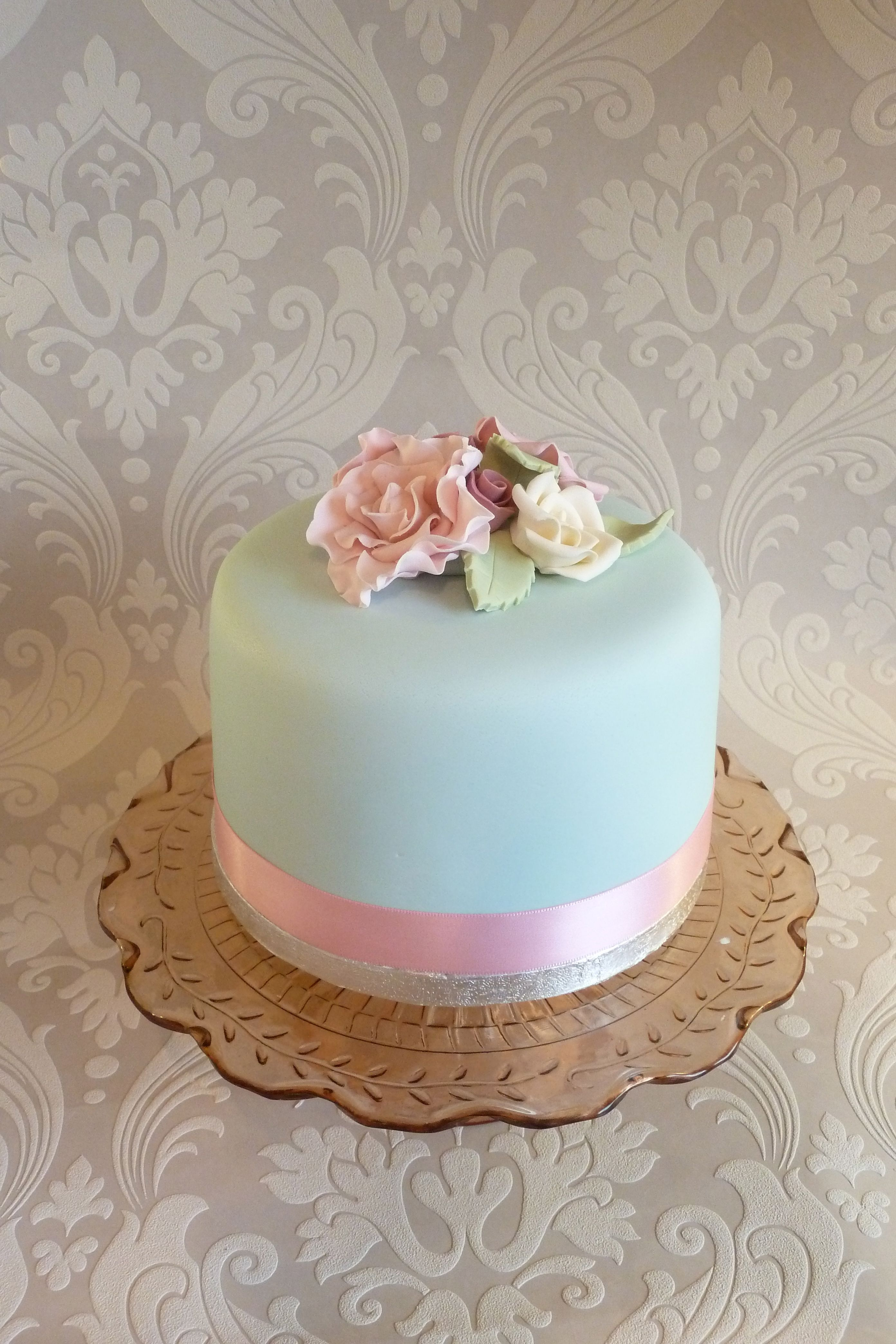 Floral Vintage Inspired Single Tier Cake ♨ Cakes Cakes