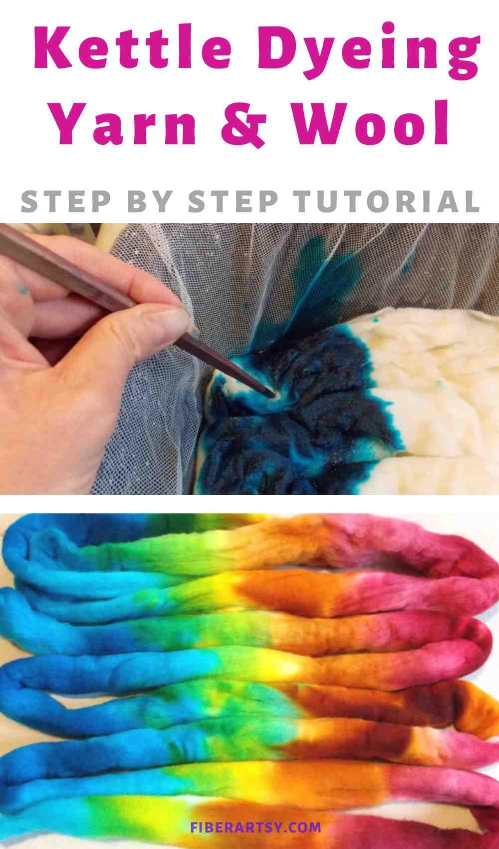 How to Kettle Dye Yarn and Wool Roving in 2020 Yarn