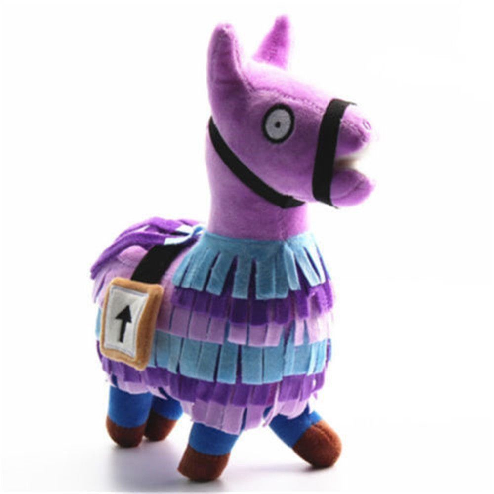 Fortnite Plush Doll Grass Mud Horse Super Soft Alpaca Plush Toy Pink