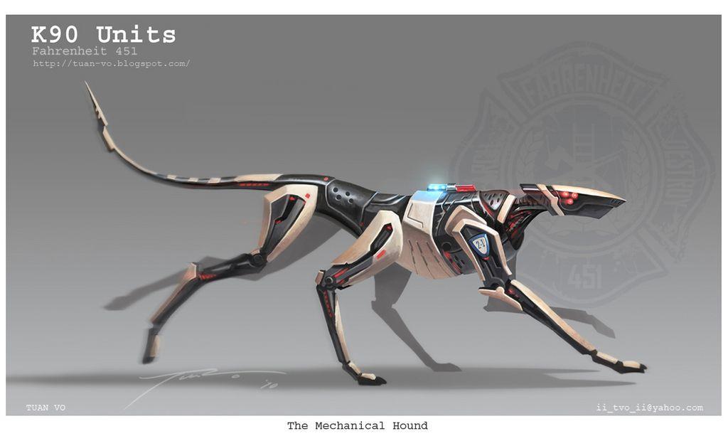 mechanical hound   English 9   Pinterest  Fahrenheit 451 Mechanical Hound Movie