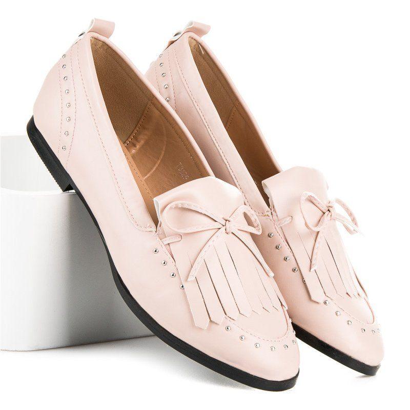Seastar Stylowe Mokasyny Na Wiosne Rozowe Loafers Shoes Fashion