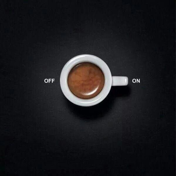 On/off | Creative coffee, Ads creative, Creative ads