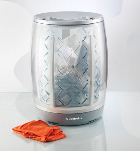 Ibasket Futuristic Washing Machine Concept That Sends A Message To Your Mobile Device Washer And Dryer Cool Stuff Cool Inventions