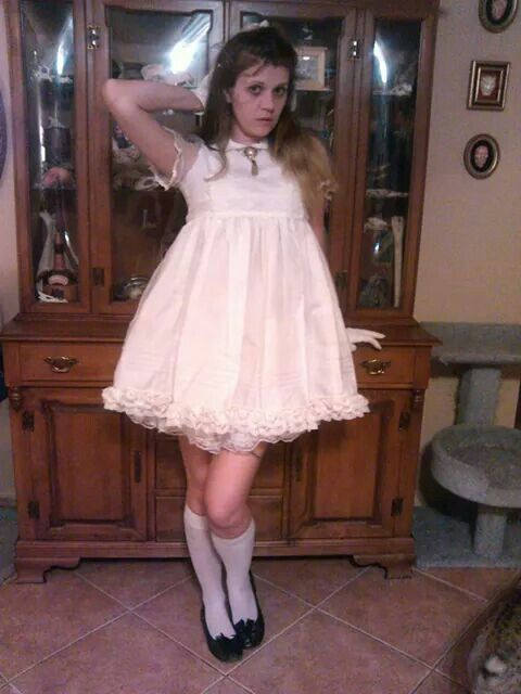 So Cute In The White Lolita Dress My Sewing Modeling