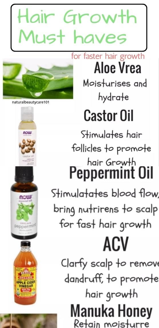 6 Ingredients To Add To Your Shampoo For Fast Hair Growth #naturalhaircare