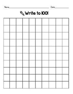 blank 100 chart | Printable Blank 100 Hundreds Chart | New ...