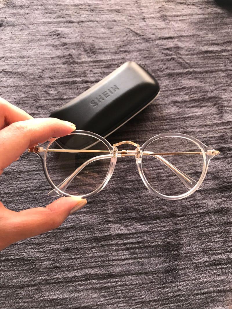 377f533b3c Transparent Frame Metal Top Bar Glasses -SheIn(Sheinside ...