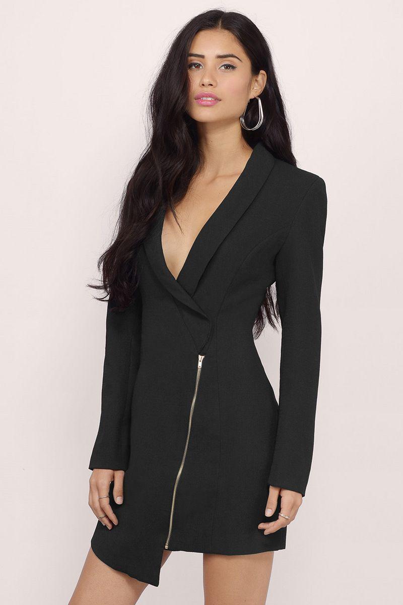 64da72e546c Miss Bossy Tuxedo Dress | Blazer dress | Dresses, Tuxedo dress, Tuxedo