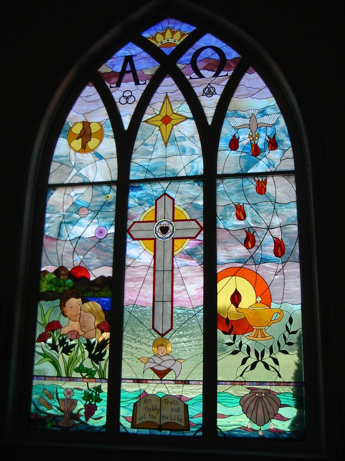 Stained Glass Window A Faith Lutheran Church In East Jordan Michigan