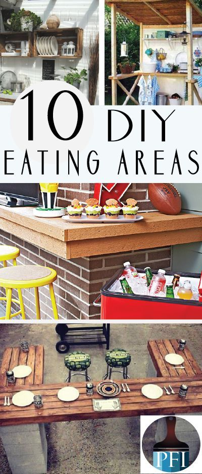 10 Diy Outdoor Eating Areas Painted Furniture Ideas Area Patio Table Decor