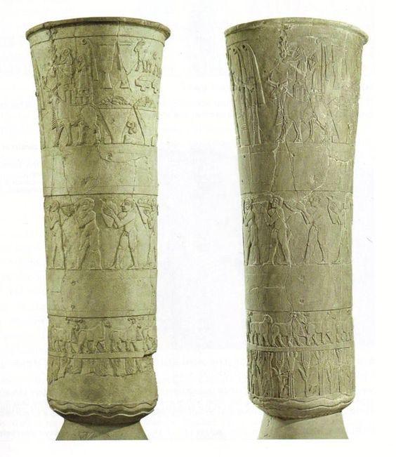 Sumerian Carved Alabaster Vase The Warka Vase 3400 3100 Bcund
