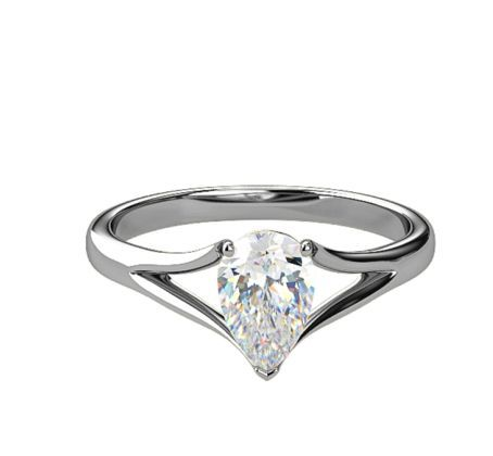 c1dfeb848 Engagement Ring : attractive rubover solitaire pear shape: Samara James