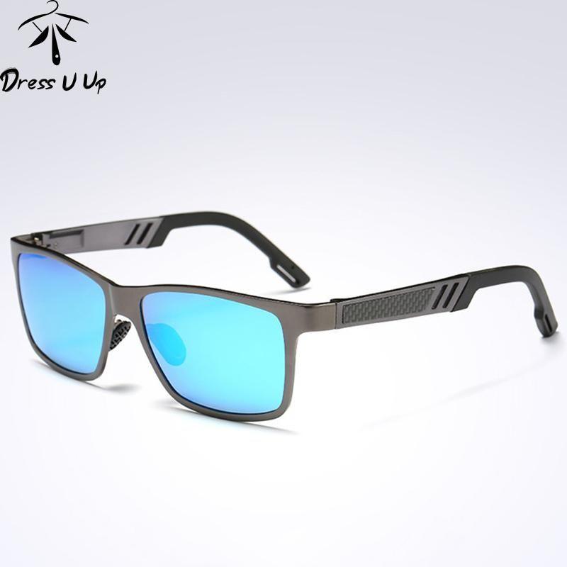 3d30d9eb23219b DRESSUUP Polarized Square Sunglasses Men Brand Designer UV400 Gafas Fashion Sun  Glasses Lunette De Soleil Homme