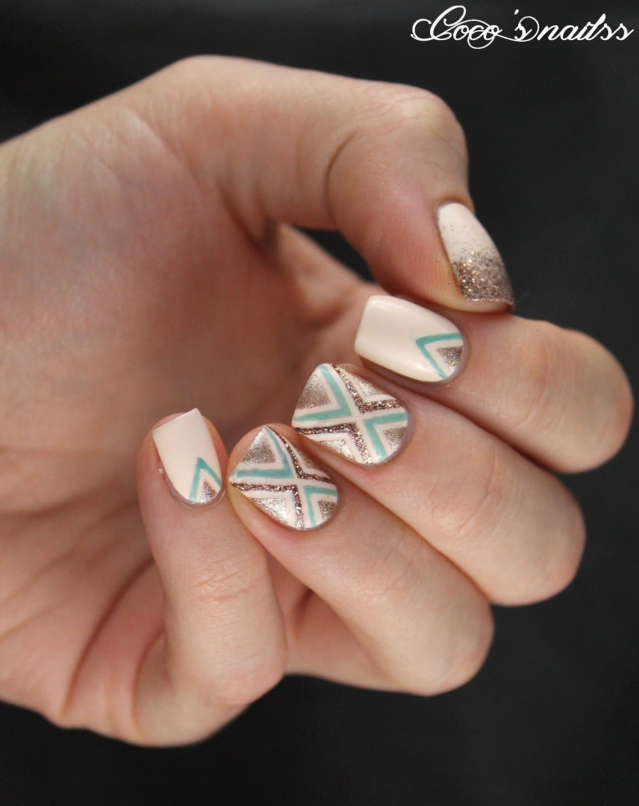 Striping Tape Nail Art Cocosnailss My Nails Pinterest