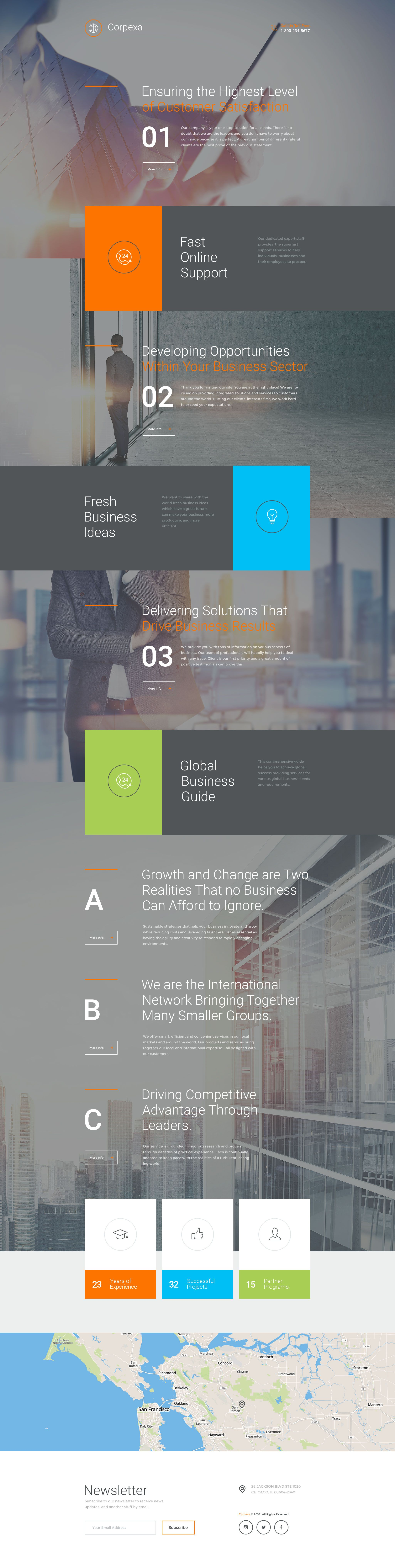 Business Responsive Landing Page Template | Pinterest | Template ...