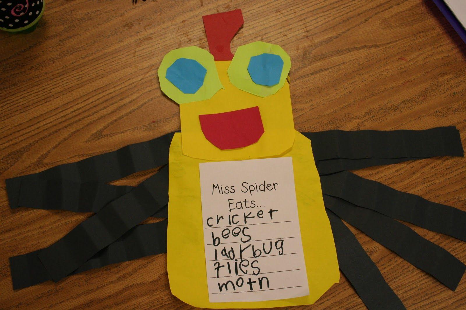 Mrs Lee S Kindergarten Spiders Spiders Spiders