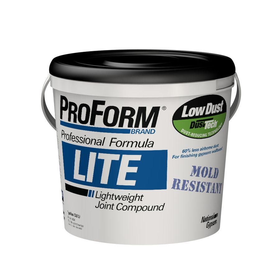 Proform Lite With Dust Tech 1 Gallon Premixed Lightweight Drywall Joint Compound With Images Drywall Joint Compound Drywall Compounds